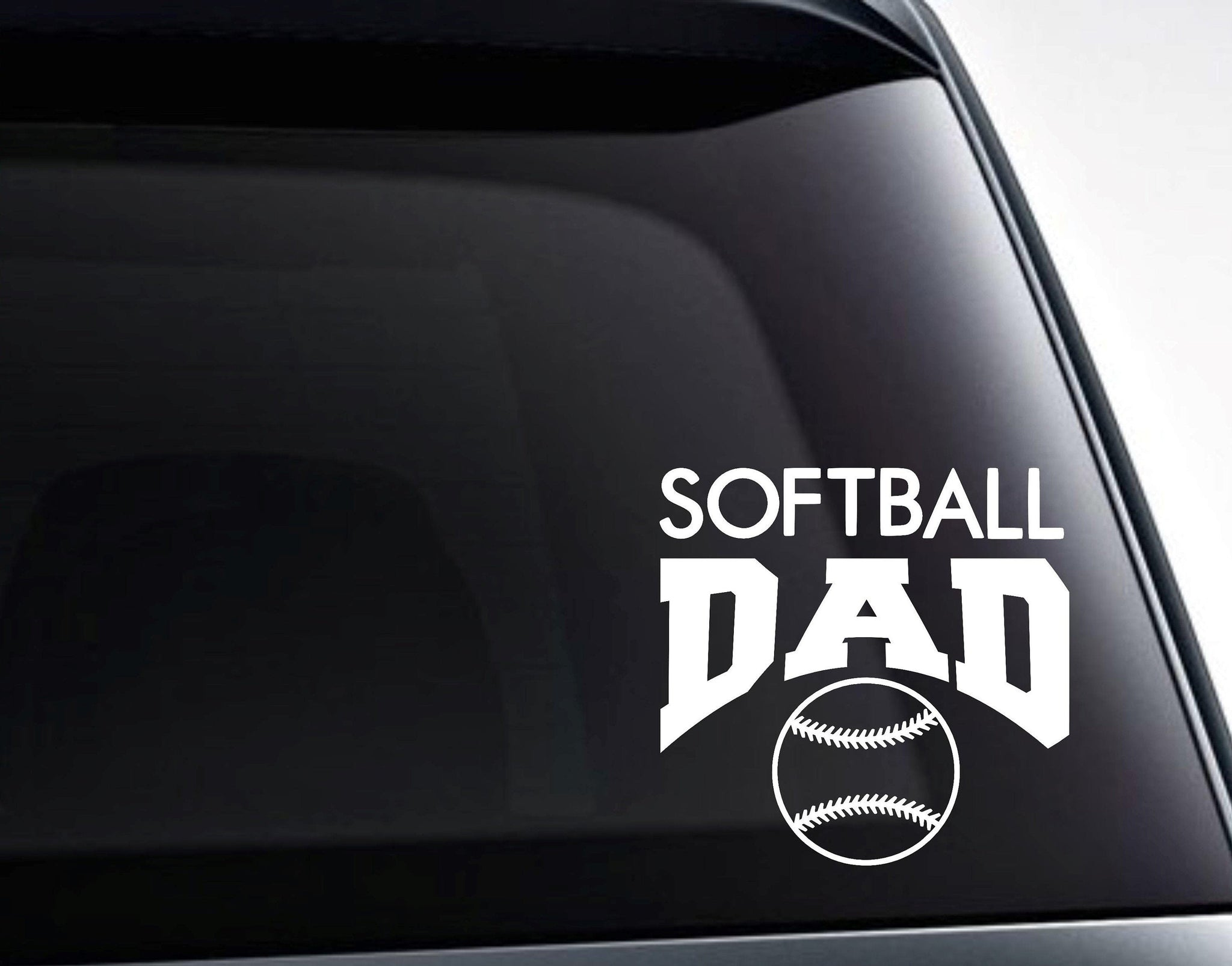 Softball Dad Decal, Softball Dad Sticker