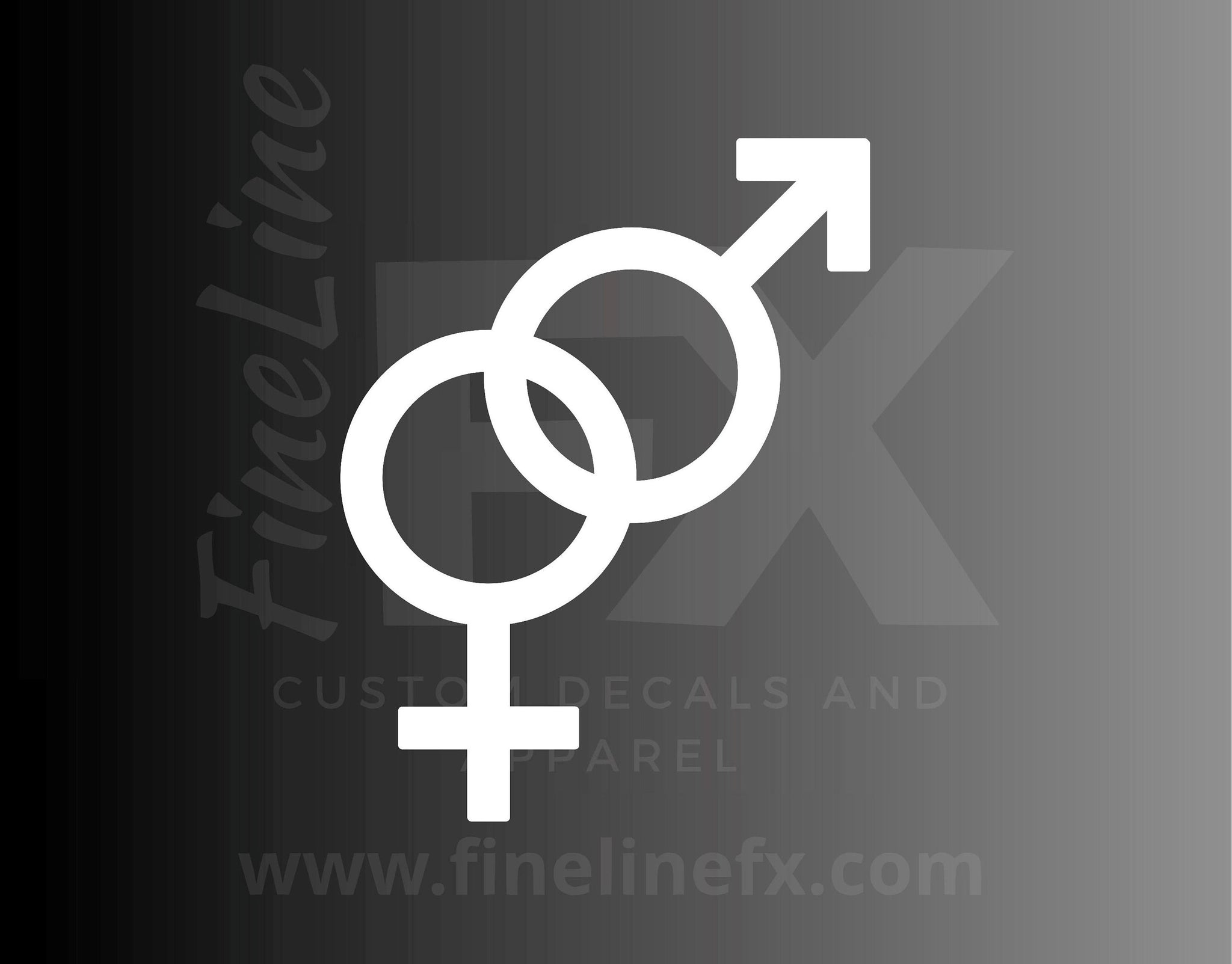 Male Female Gender Symbol Vinyl Decal Sticker