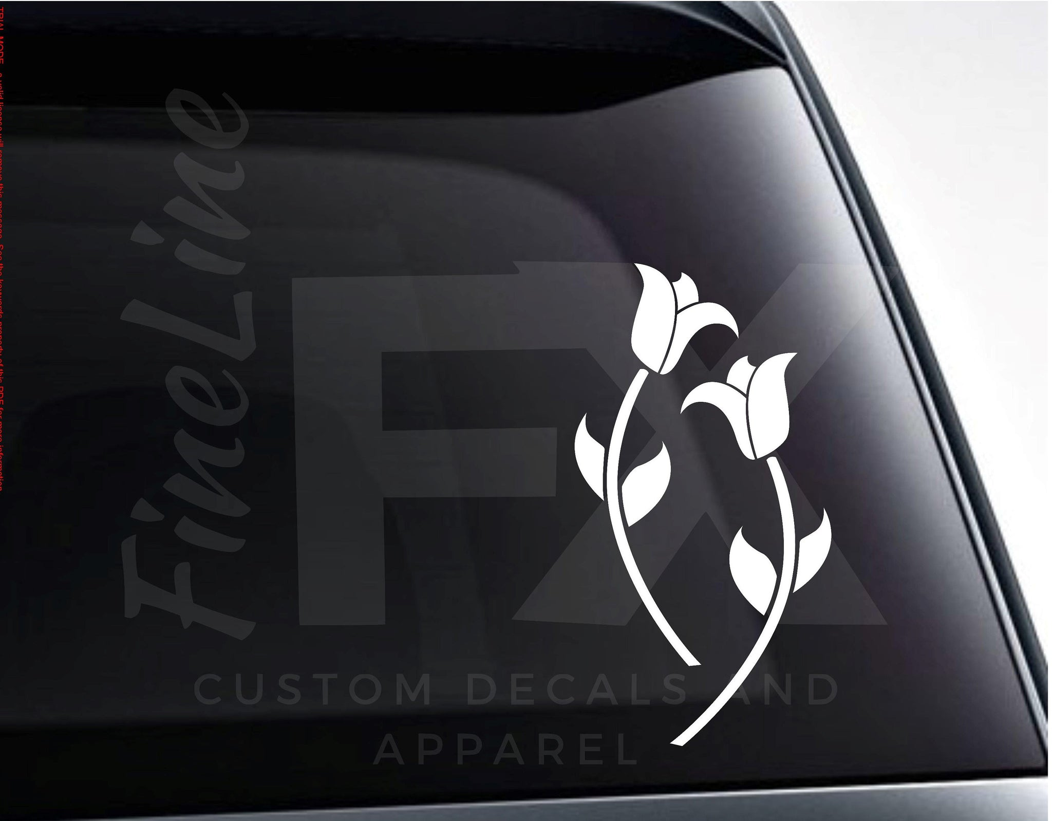 Roses Flowers Floral Vinyl Decal Sticker
