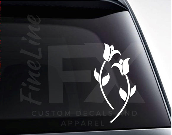 Roses Flowers Floral Vinyl Decal Sticker - FineLineFX