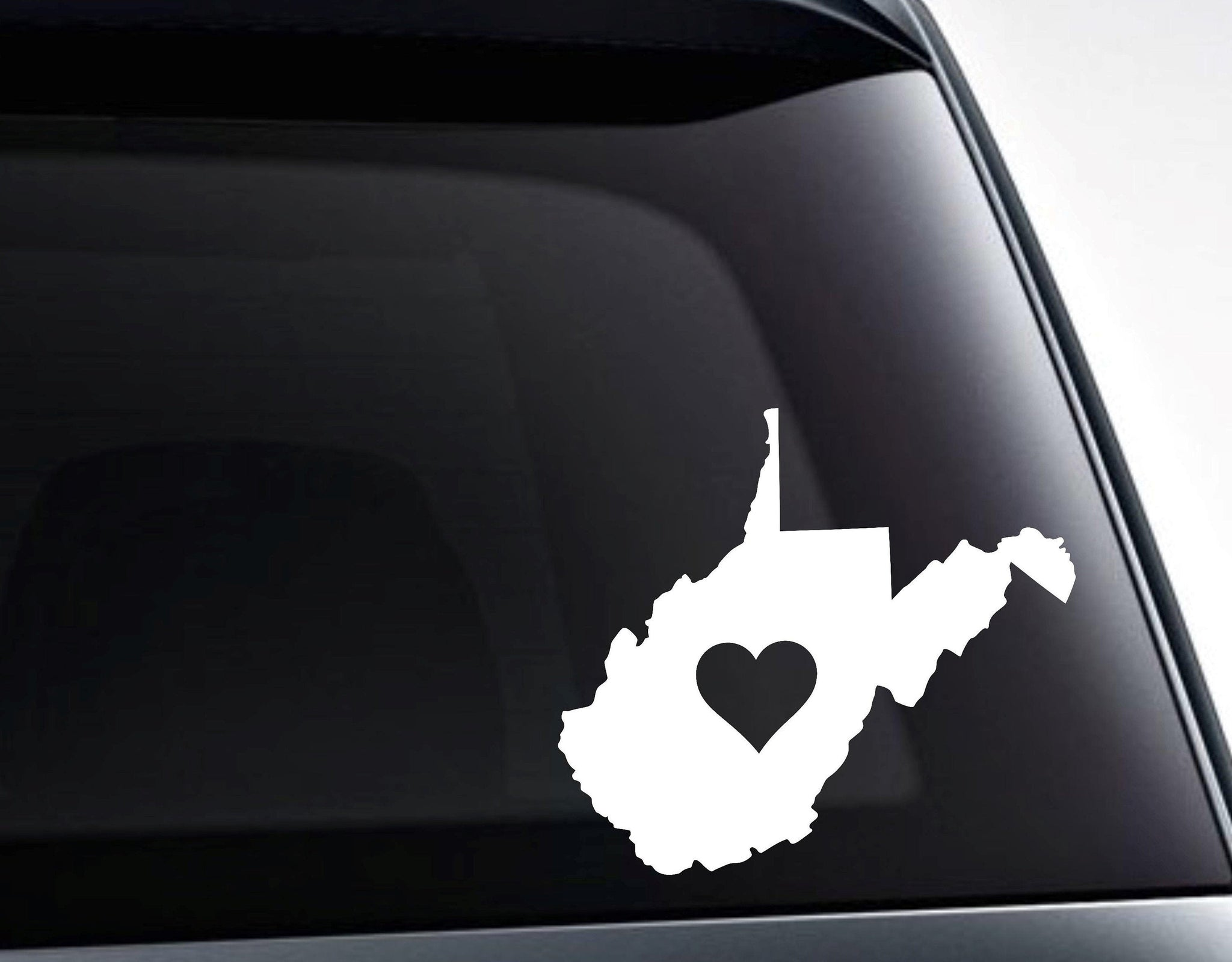 West Virginia Heart Love West Virginia Vinyl Decal Sticker / Decal for Cars, Laptops, Tumblers and More