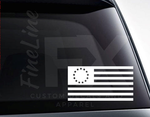 Betsy Ross American Flag 13 Stars USA Flag Vinyl Decal Sticker