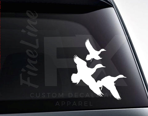 Flying Geese Ducks Birds Vinyl Decal Sticker