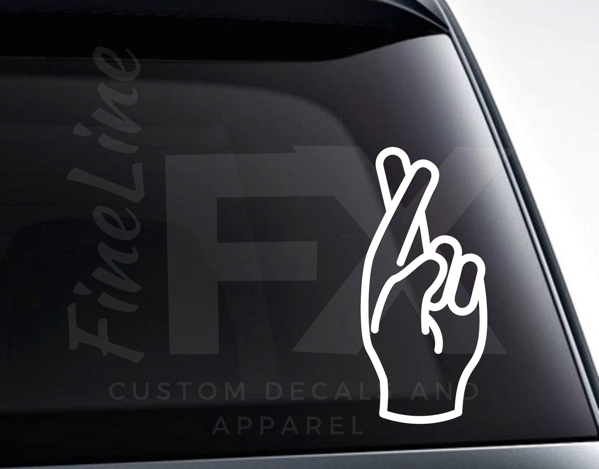 Fingers Crossed Vinyl Decal Sticker