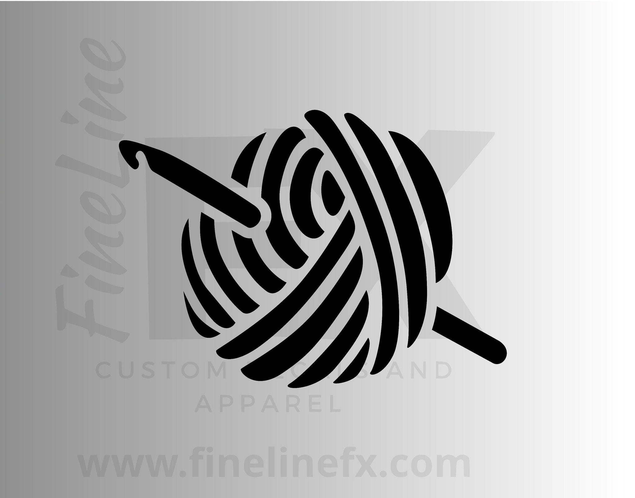 Knitting Yarn Ball Vinyl Decal Sticker