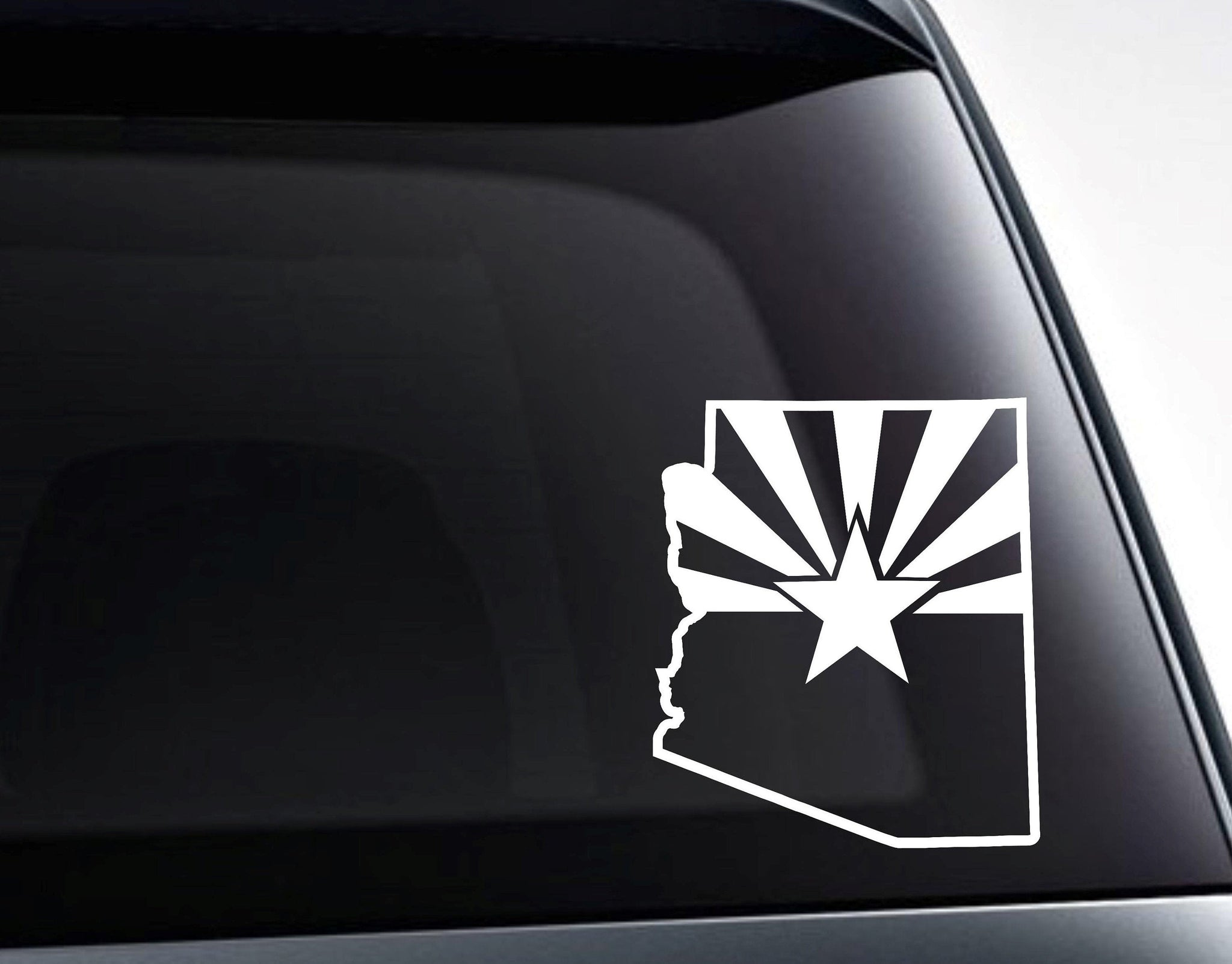 Arizona Shape Arizona State Flag Vinyl Decal Sticker