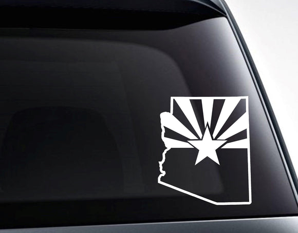 Arizona Shape Arizona State Flag Vinyl Decal Sticker - FineLineFX