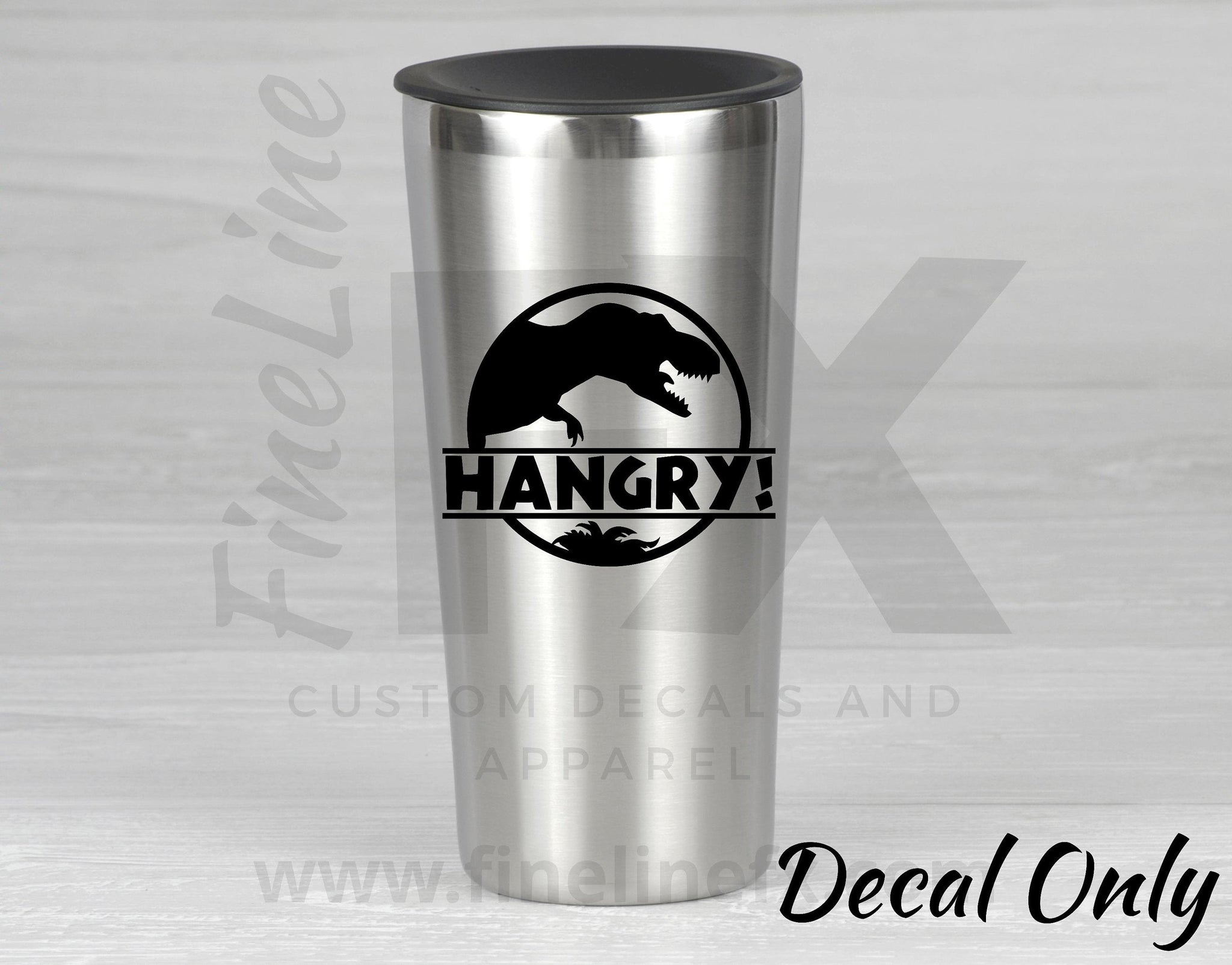 Hangry T-Rex Dinosaur Vinyl Decal Sticker