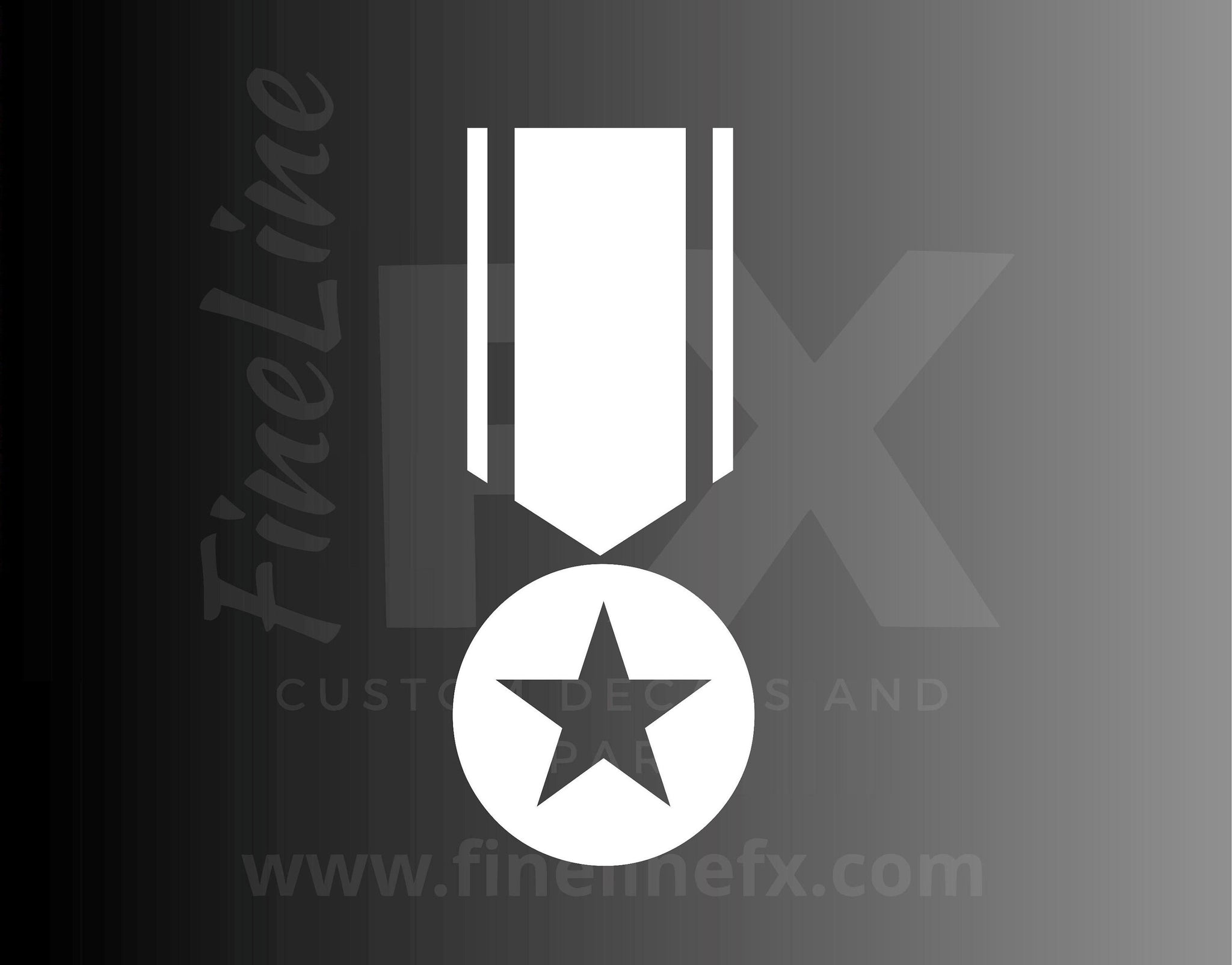 Ribbon Award Medal Vinyl Decal Sticker