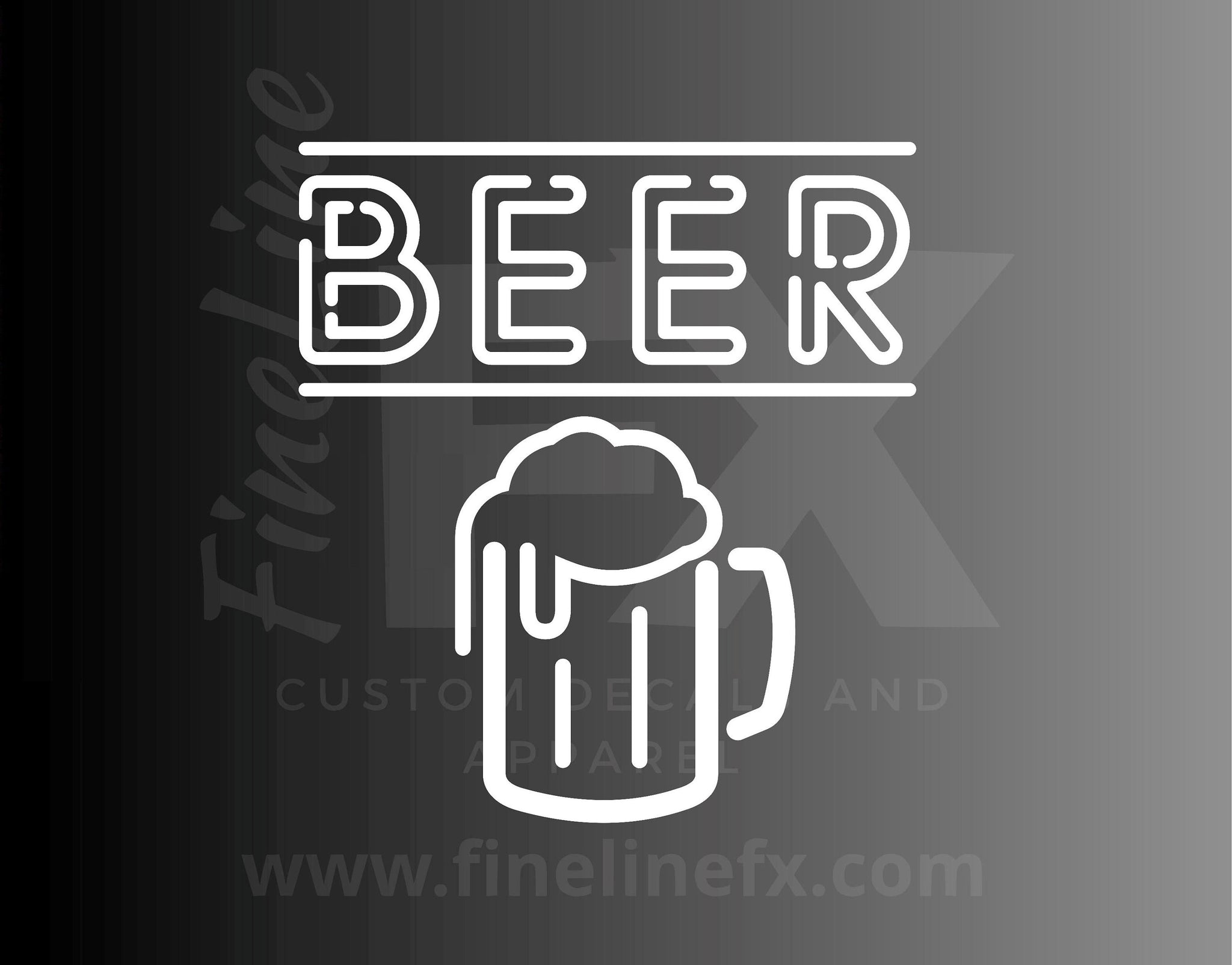 Beer Neon Sign Vinyl Decal Sticker
