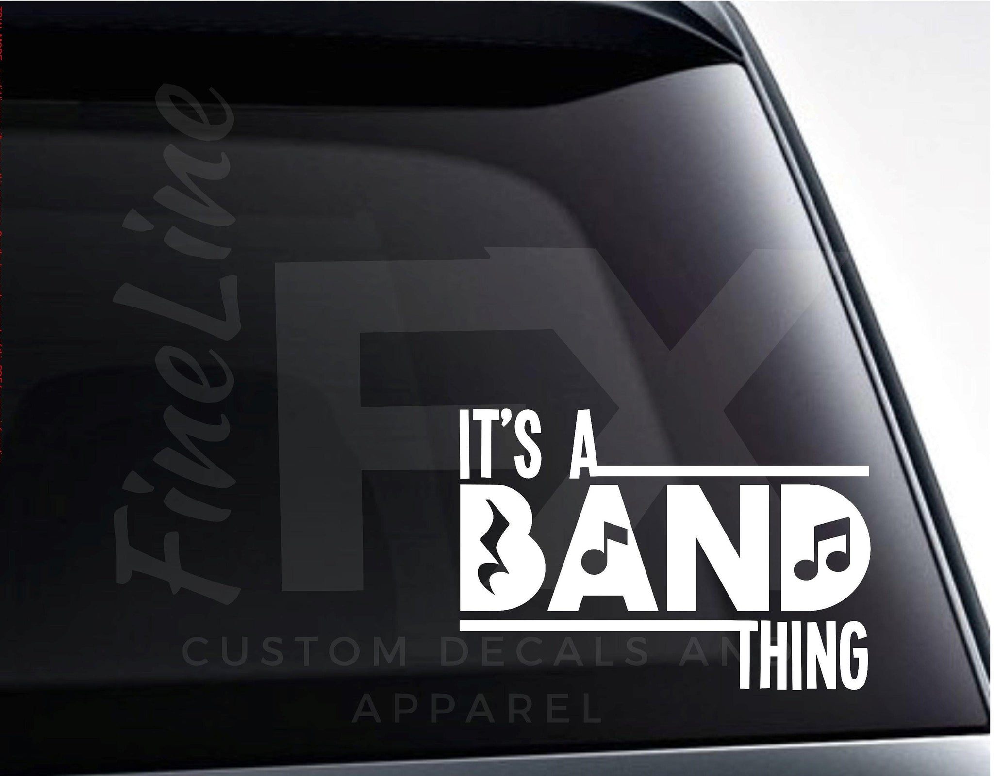 It's a Band Thing, Marching Band Vinyl Decal Sticker