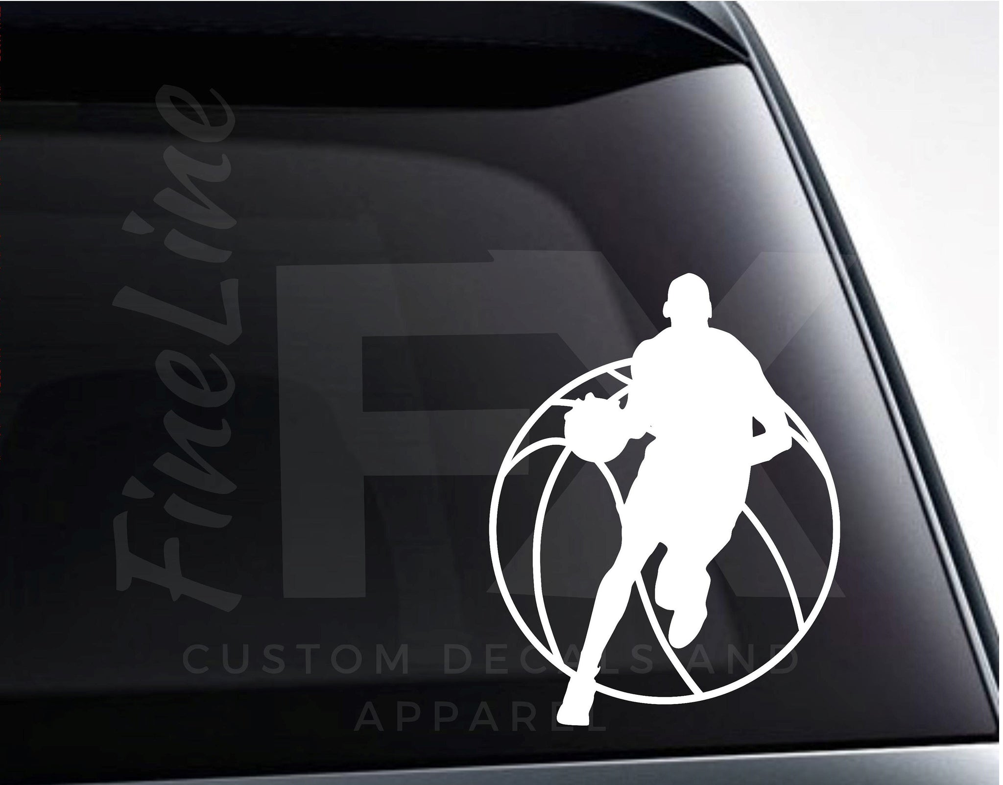 Basketball Player Silhouette Basketball Vinyl Decal Sticker