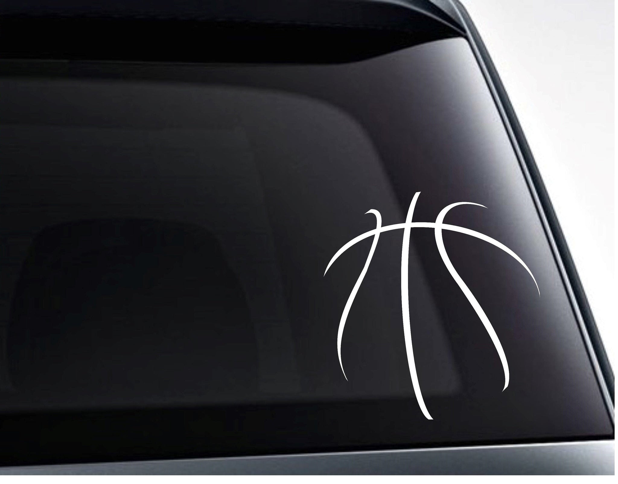 Basketball Seams Design Vinyl Decal Sticker