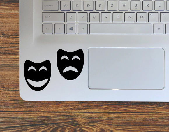 Drama Club Comedy And Tragedy Theater Masks Vinyl Decal Sticker - FineLineFX
