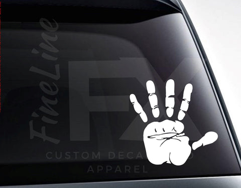Handprint Wave Hello Hand Sign Vinyl Decal Sticker