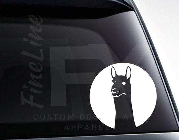 Llama Alpaca Vinyl Decal Sticker / Decal For Cars, Laptops, Tumblers and More - FineLineFX