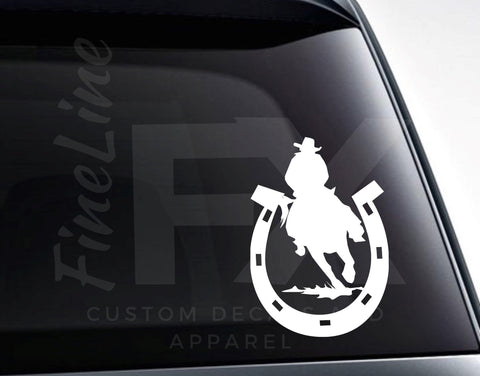 Horseshoe Rodeo Cowboy Vinyl Decal Sticker / Decal For Cars, Laptops, Tumblers and More