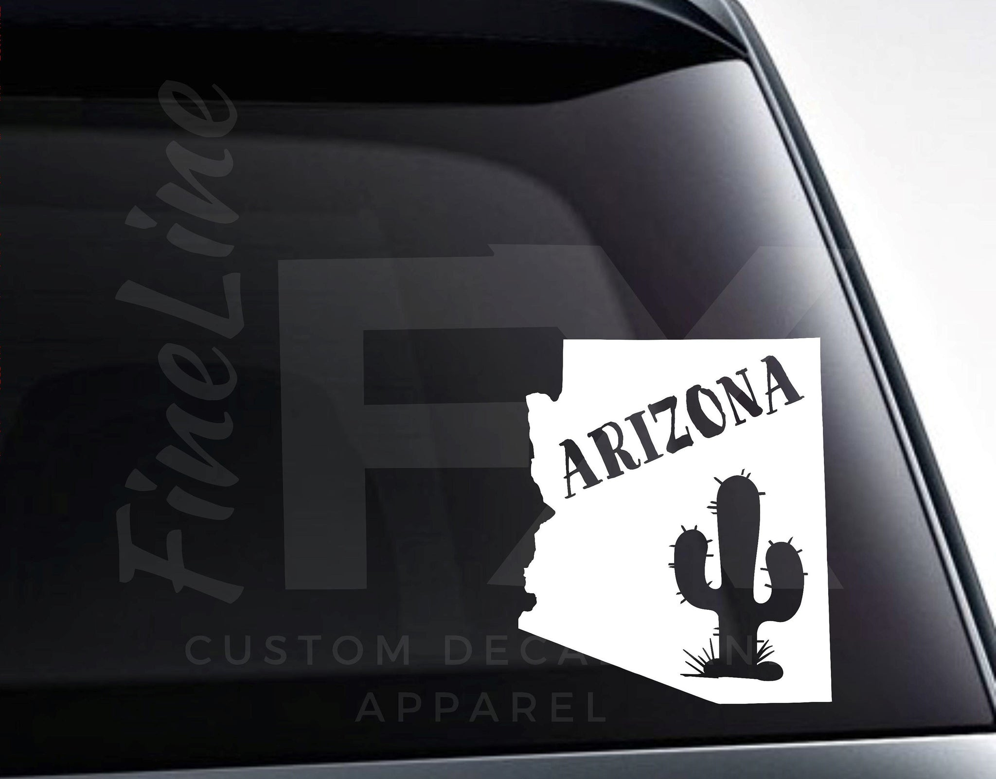 Arizona Cactus Southwestern Desert Vinyl Decal Sticker