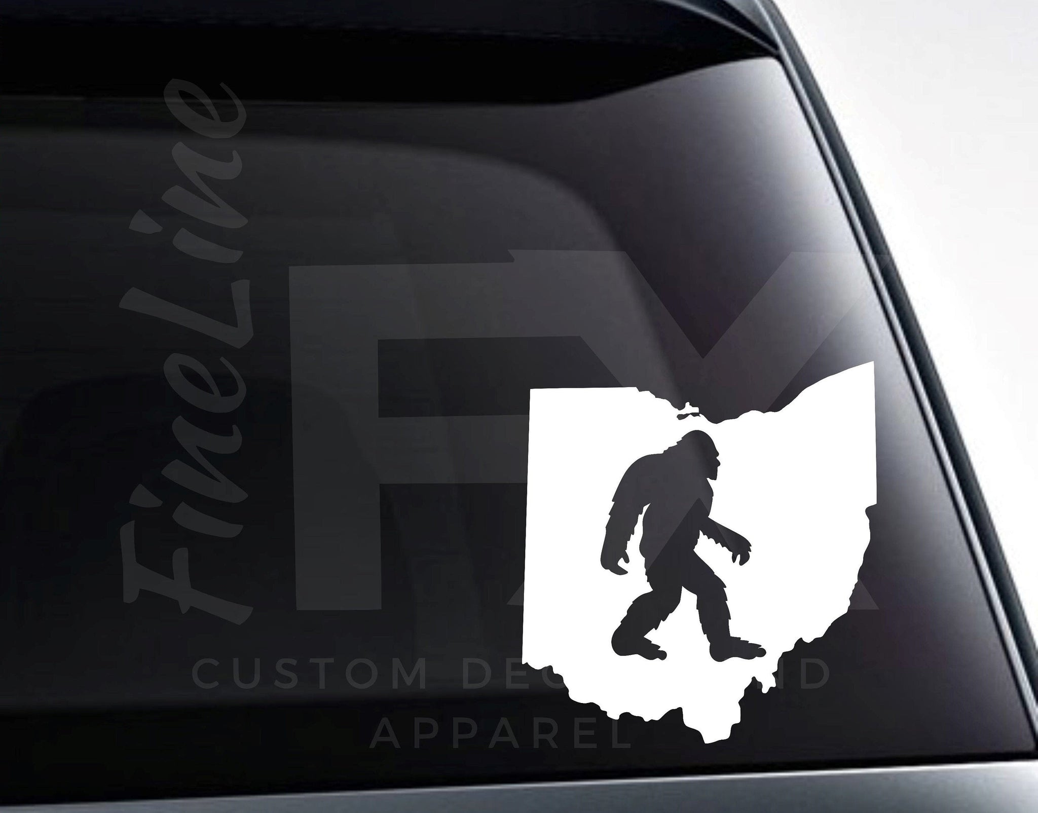 Ohio Bigfoot Sasquatch Vinyl Decal Sticker