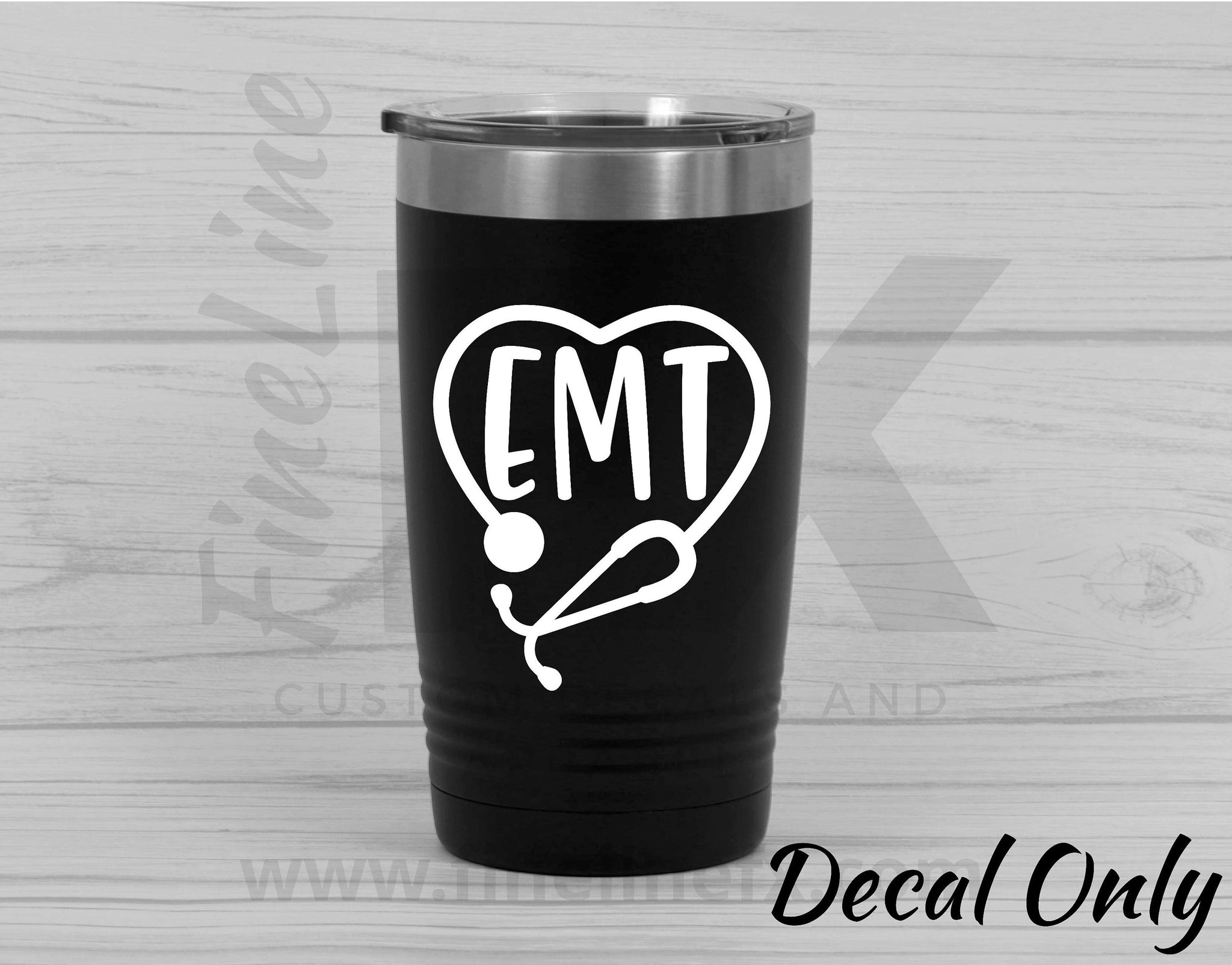 EMT Stethoscope Emergency Medical Tech Vinyl Decal Sticker