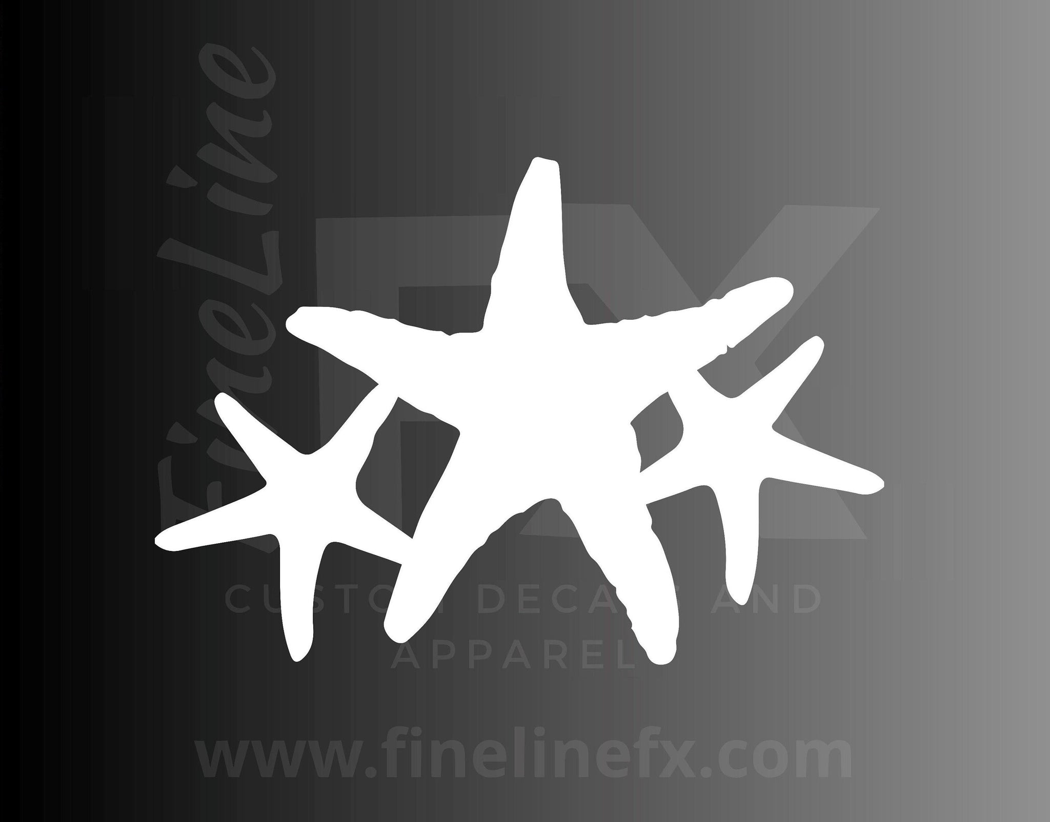 Starfish, Sea Creature, Ocean Life Vinyl Decal Sticker