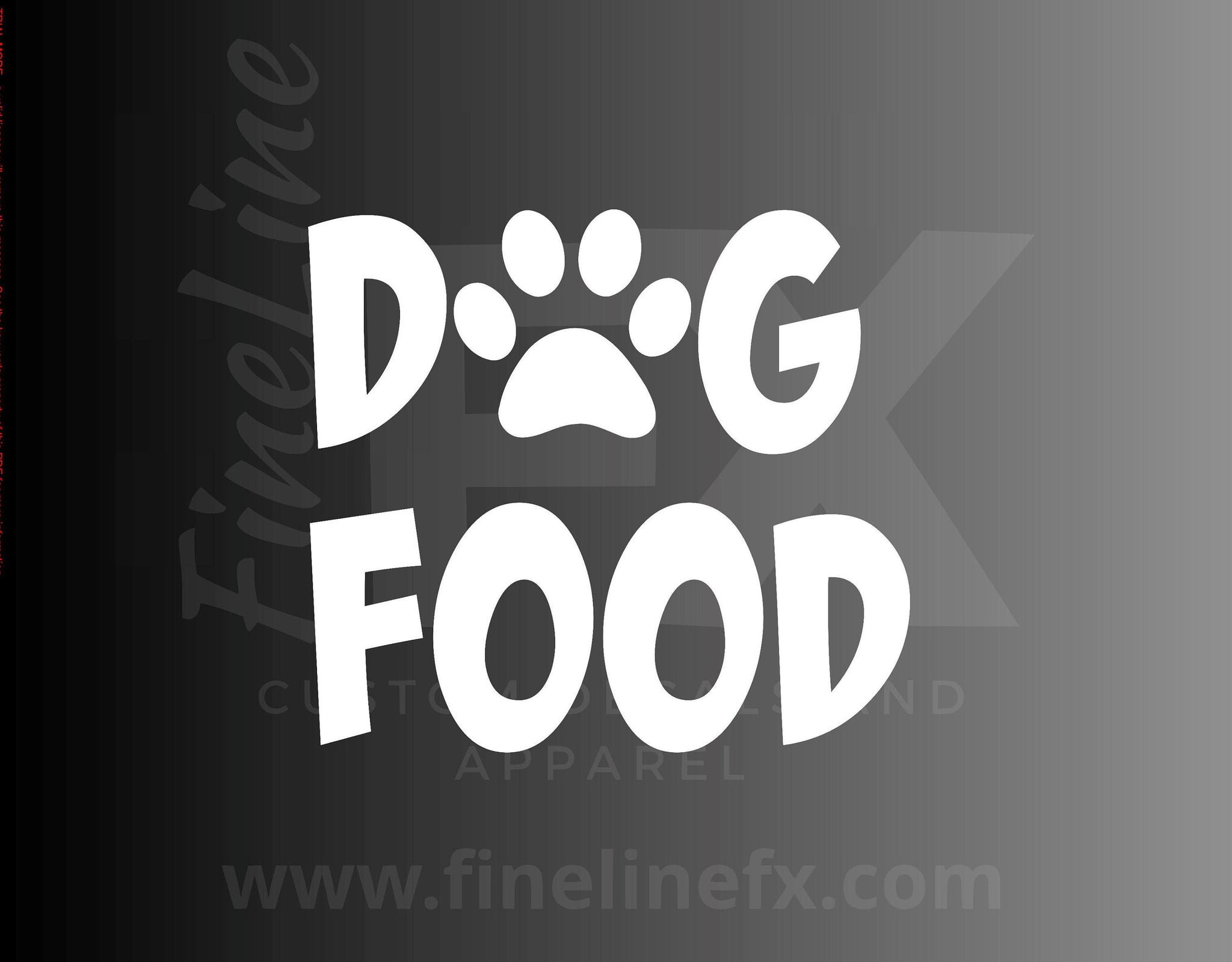 Dog Food, Pet Food Container Label Vinyl Decal Sticker