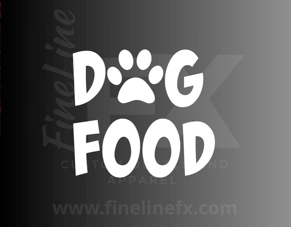 Dog Food, Pet Food Container Label Vinyl Decal Sticker - FineLineFX