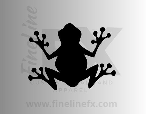 Frog Silhouette Die Cut Vinyl Decal Sticker