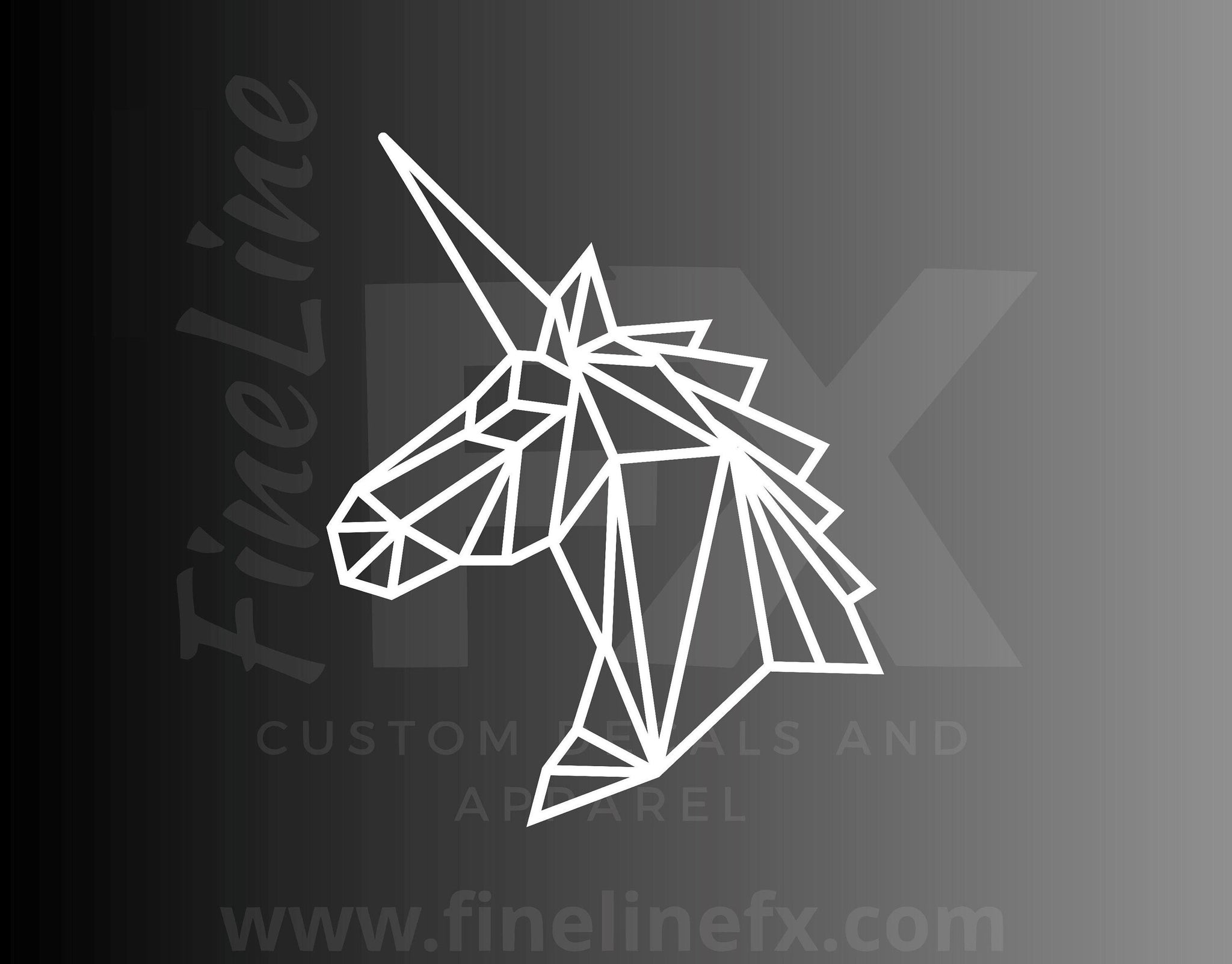 Geometric Unicorn Fantasy Vinyl Decal Sticker