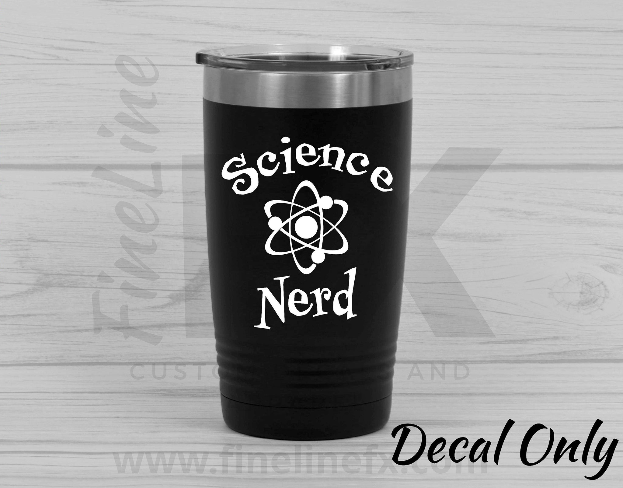 Science Nerd Chemical Atom Die Cut Vinyl Decal Sticker