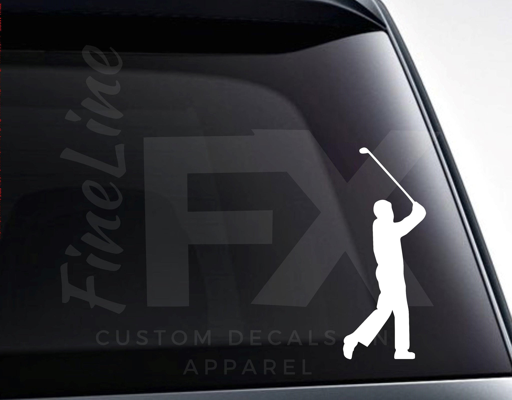 Golfer Silhouette, Golf Vinyl Decal Sticker