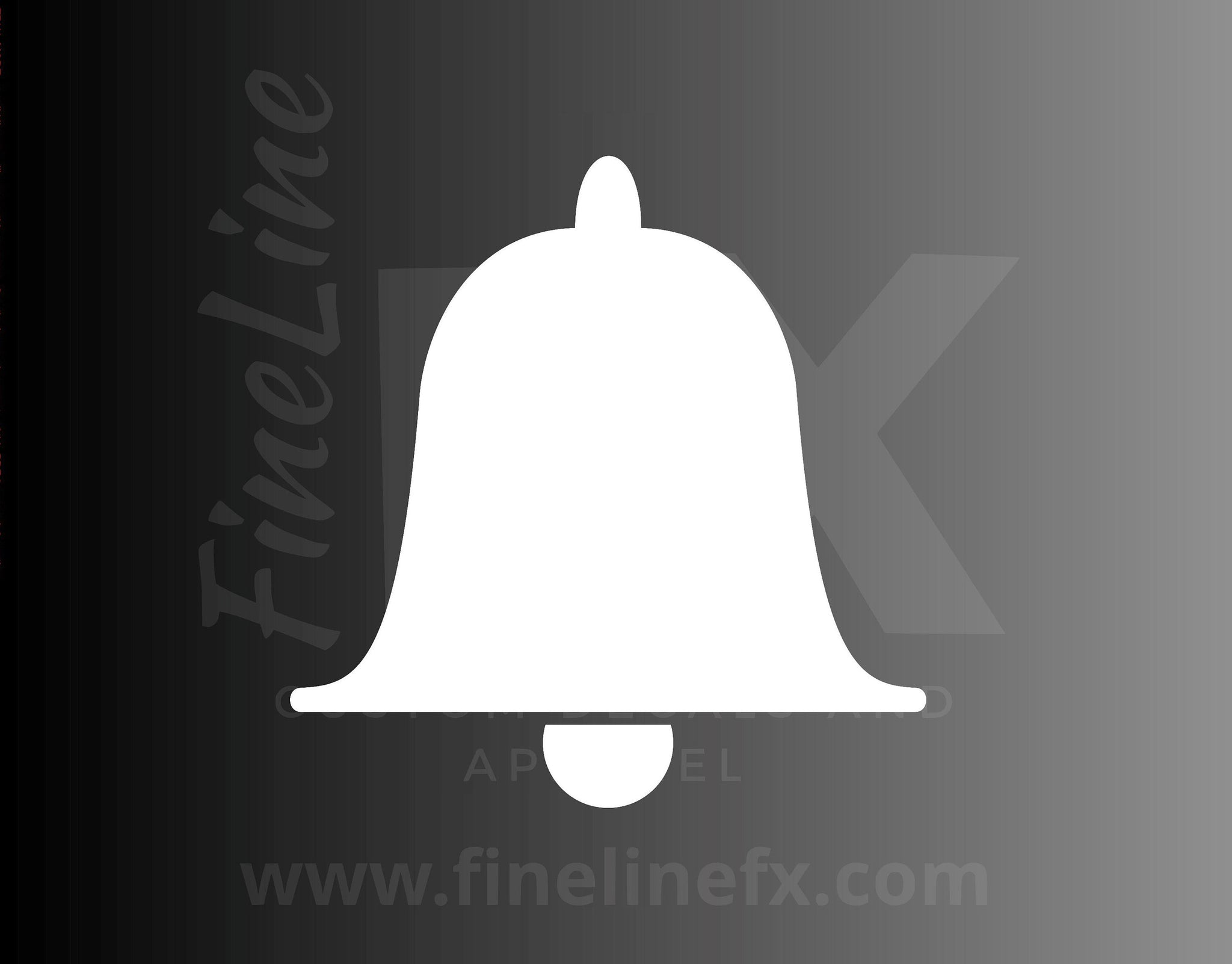 Bell Alert Attention Icon Vinyl Decal Sticker