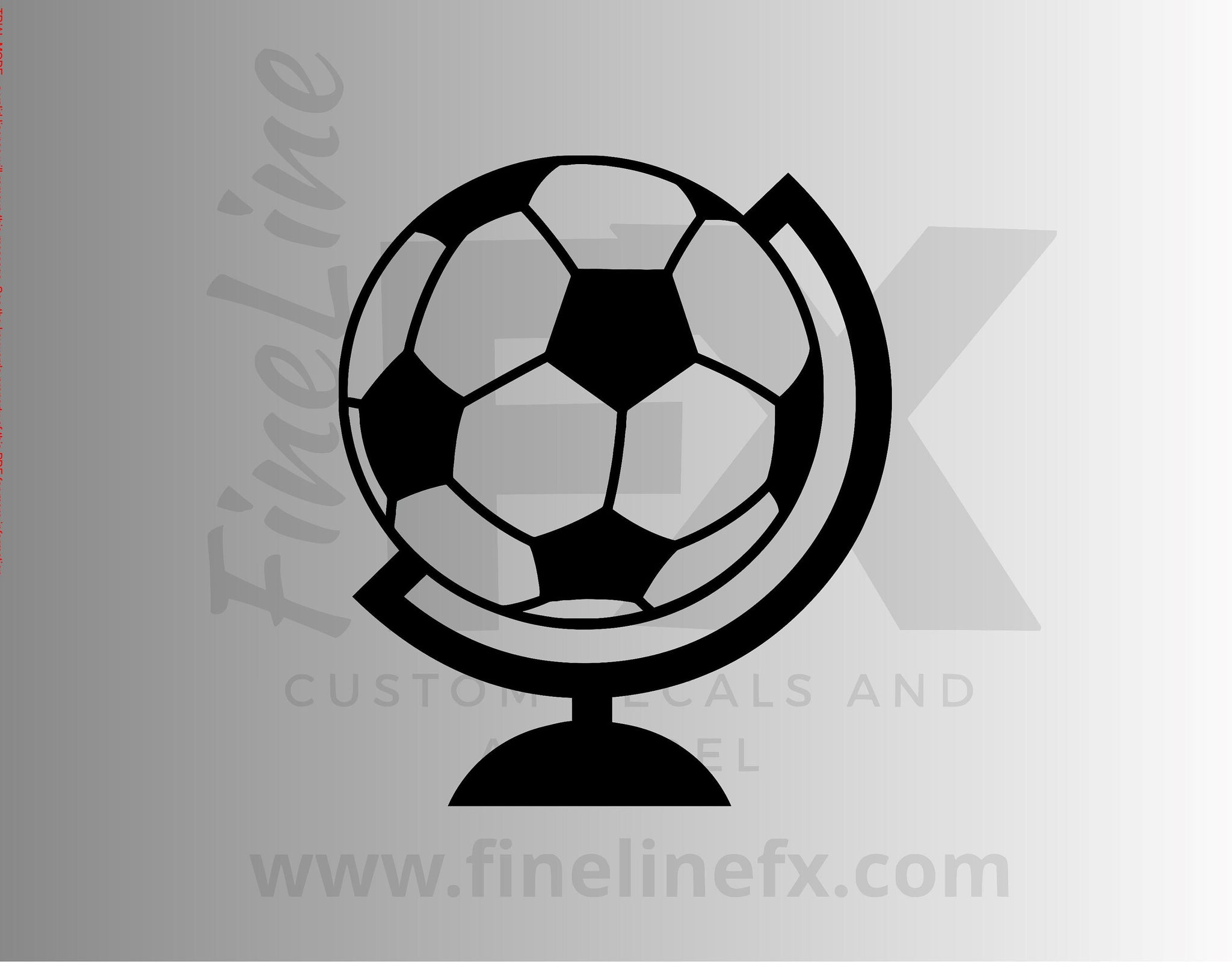 Soccer Ball Futbol World Globe Die Cut Vinyl Decal Sticker