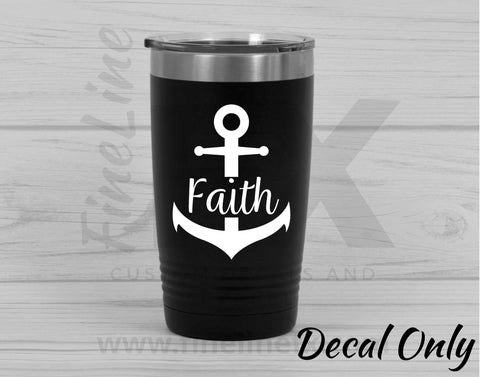 Faith Anchor Vinyl Decal Sticker