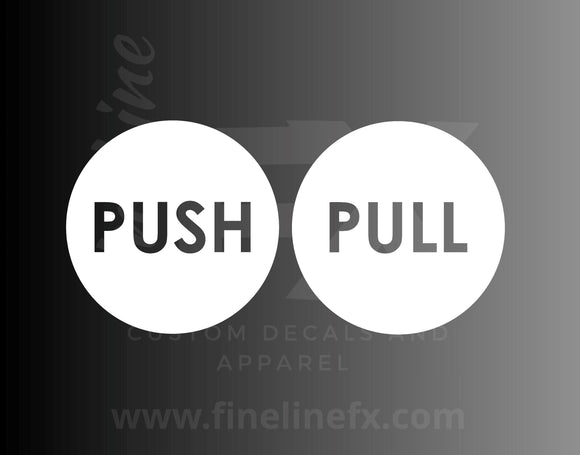 Push Pull Door Decals - FineLineFX