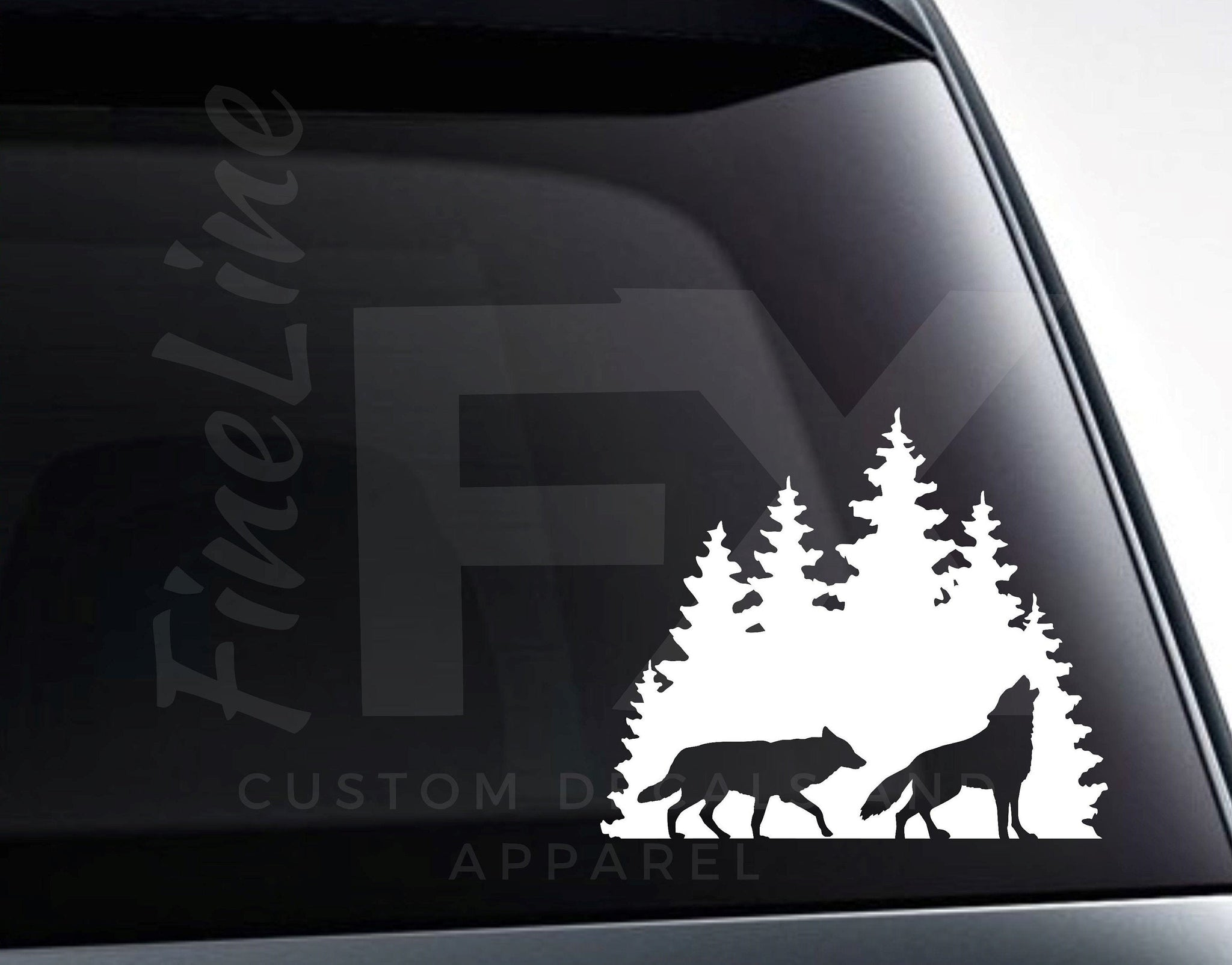 Wolves In The Forest Vinyl Decal Sticker