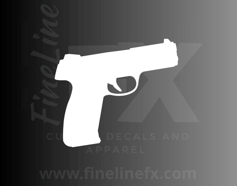Gun Handgun Pistol Vinyl Decal Sticker