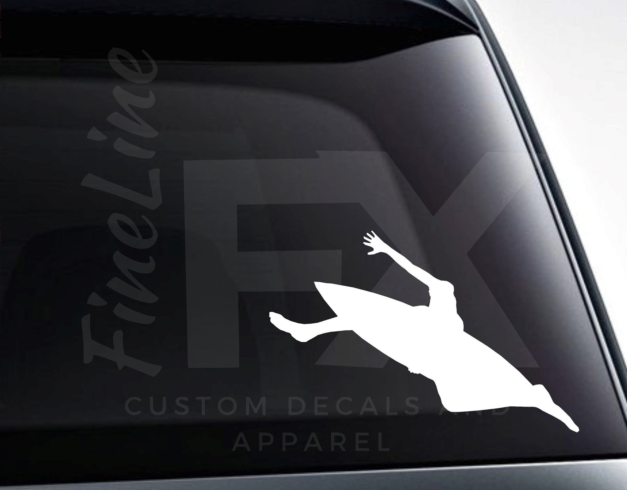 Surfing Decal, Surfboard, Paddleboard Paddling Vinyl Decal Sticker