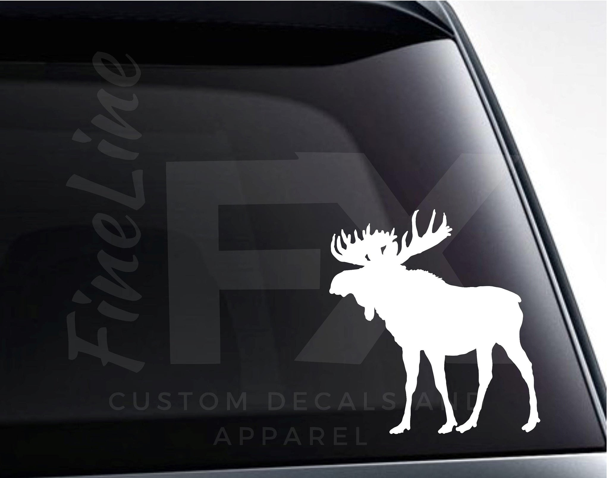 Moose Vinyl Decal Sticker