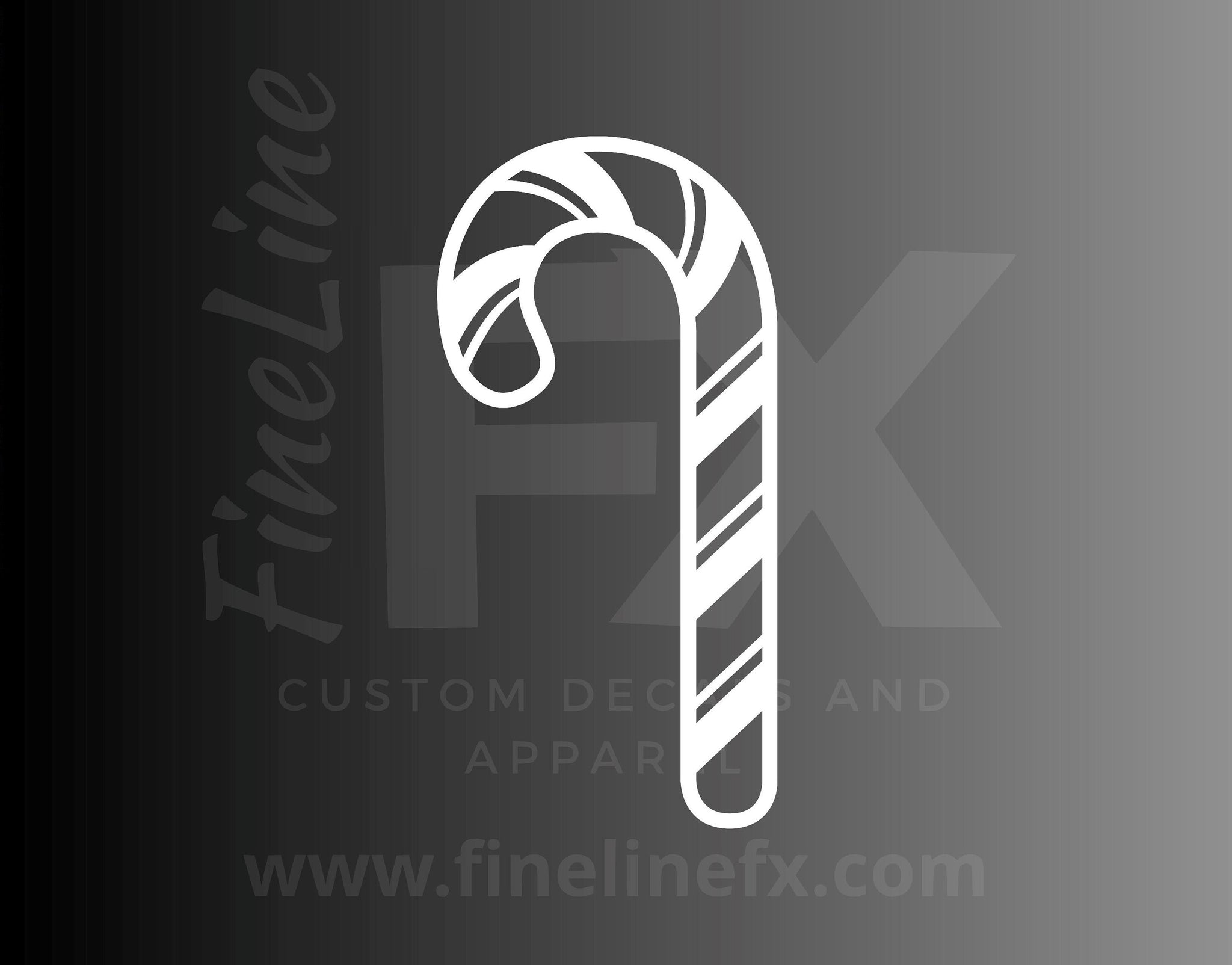 Candy Cane Die Cut Vinyl Decal Sticker