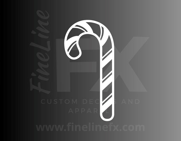 Candy Cane Die Cut Vinyl Decal Sticker - FineLineFX