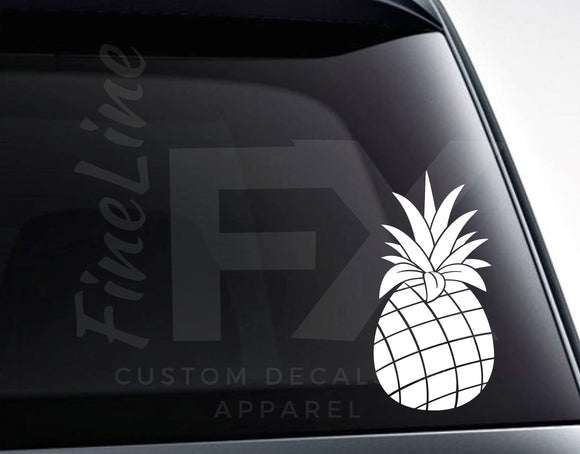 Pineapple Decal, Pineapple Fruit Tropical Vinyl Decal Sticker - FineLineFX