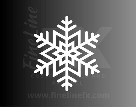 Snowflake Snow Winter Vinyl Decal Sticker