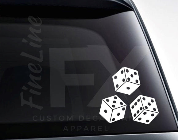 Dice Vinyl Decal Sticker, Dice Gambling Gaming Decal For Cars, Laptops, Tumblers And More - FineLineFX
