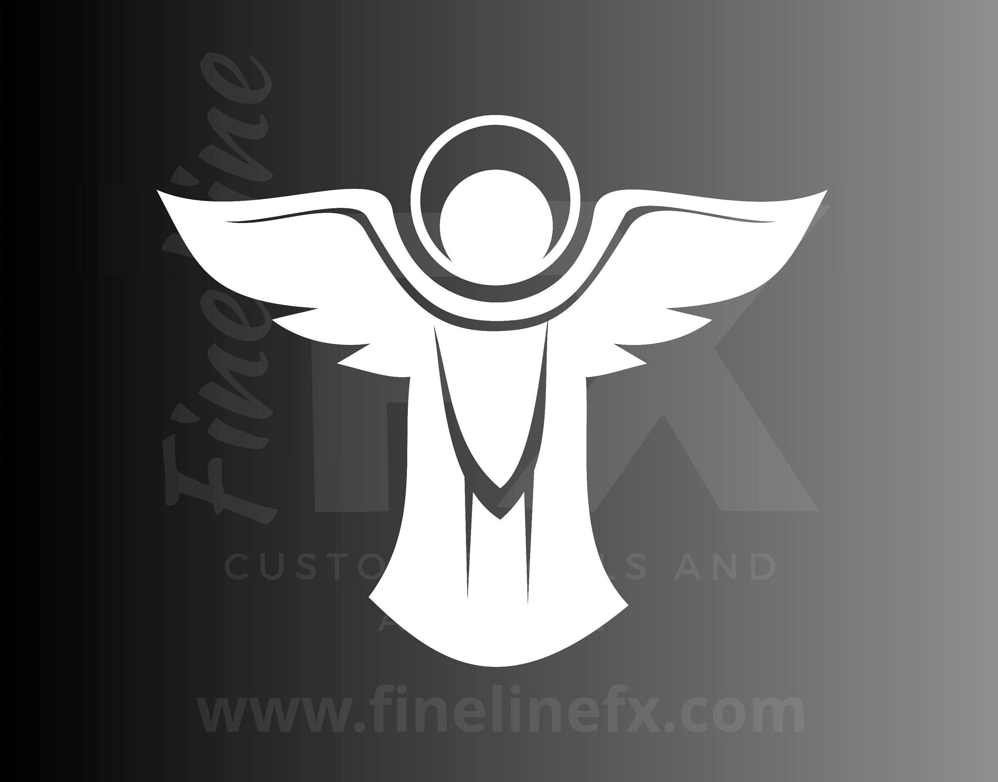 Angel Icon Halo Christian Religion Vinyl Decal Sticker