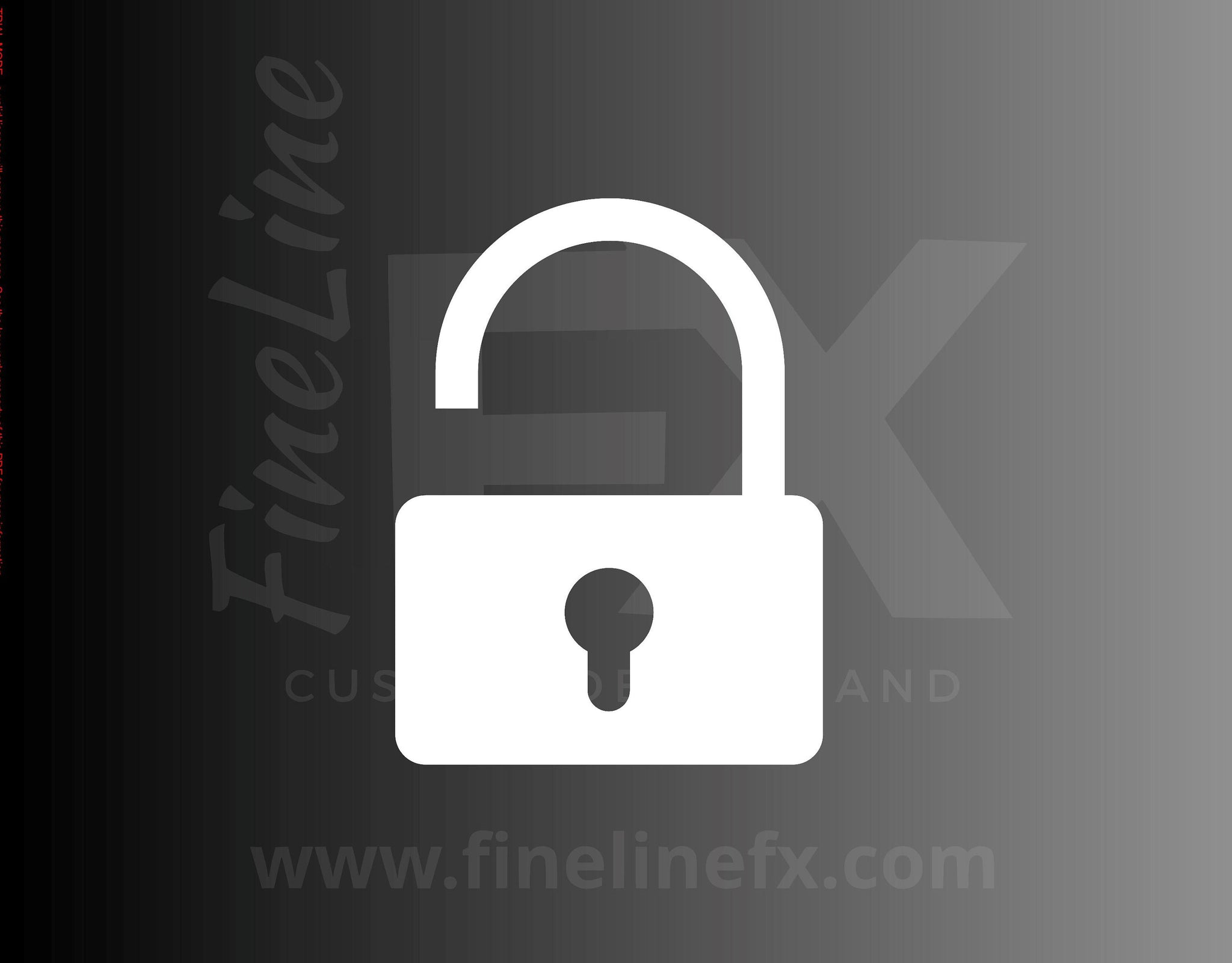 Lock Padlock Open Unlocked Symbol Icon Vinyl Decal Sticker
