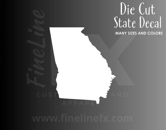 Georgia State Shape Vinyl Decal Sticker - FineLineFX