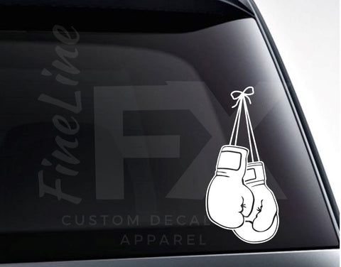 Boxing Gloves Vinyl Decal Sticker