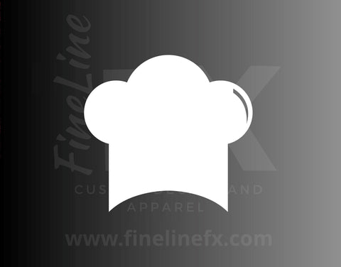 Chef Hat Decal, Chef Baker Bakery Hat Vinyl Decal Sticker
