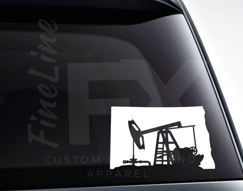 North Dakota Oil Pumpjack Vinyl Decal Sticker